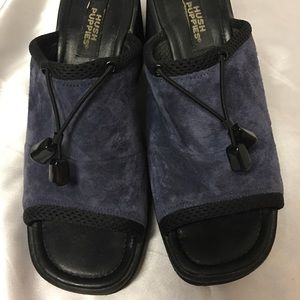 Hush Puppies Blue Suede Leather Sandals size 10